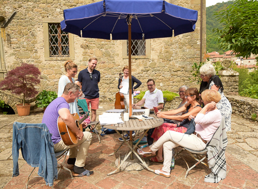 Workshop Gypsy Jazz Gitarre Hof Zippur 2016 (© Acoustic Music School)